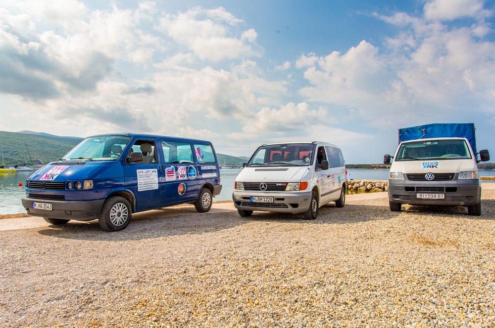 DIVE CENTER KRK Fahrzeuge für diverse Transfers