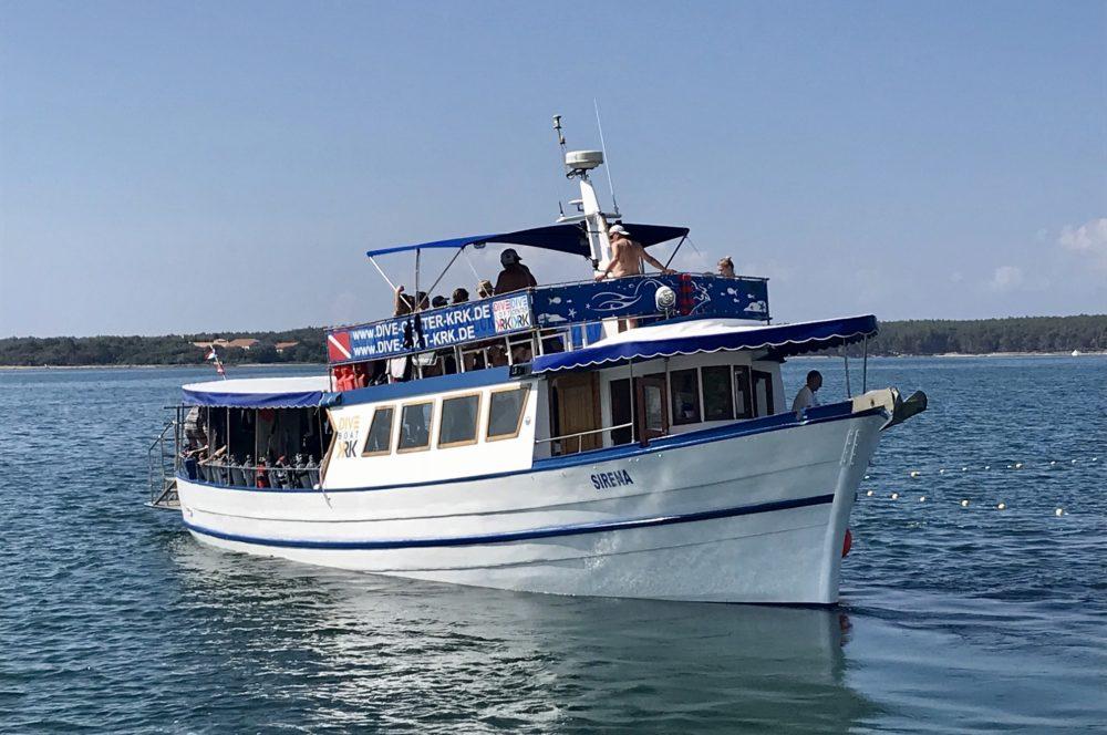 Tagestouren mit Tauchboot Sirena DIVE CENTER KRK in Kroatien